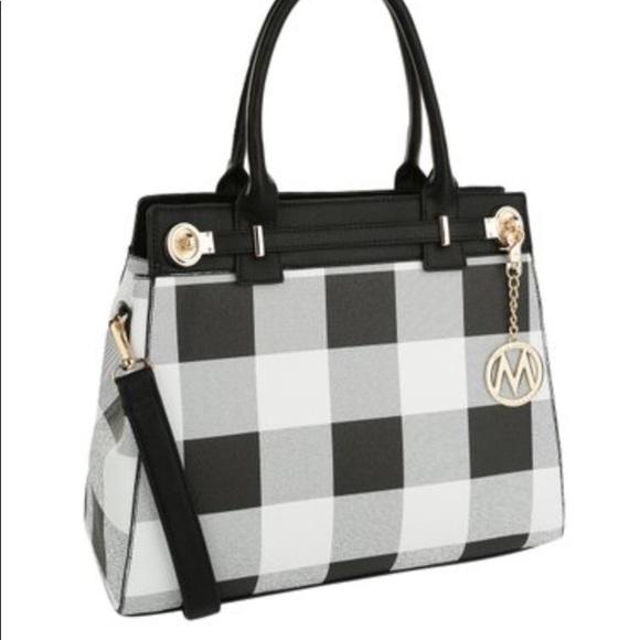 MKF Collections by Mia K. Farrow Handbags - MKF Collection by Mia K Farrow Blk/White Plaid Bag